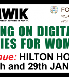 Leveraging on Digital Migration Opportunities for Women Journalists Conference