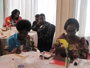 Senior Citizens Hon Phoebe Asiyo and Hon Martha Karua at the forum