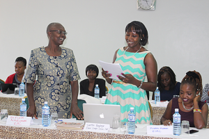 Toepista Nabusoba and Tabitha Onyinge were mentors at the forum