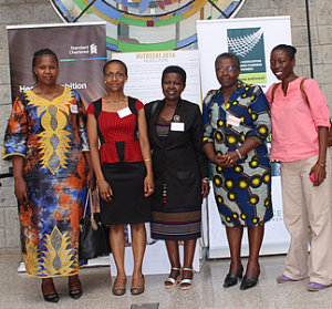 AMWIK members who attended the event (l-r) Venter Mwongera, Joyce Mutheu, Rachel Keino, Pamela Mburia and Yofi Juma