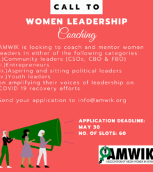 Are you a woman leader or aspiring to be one? Have you responded to this Leadership Call?